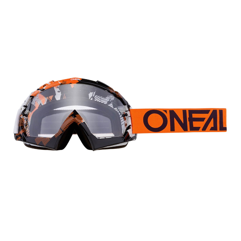 Мотоциклетные очки O'NEAL B-10 GOGGLE PIXEL для кросса, линзы прозрачные купить по низкой цене