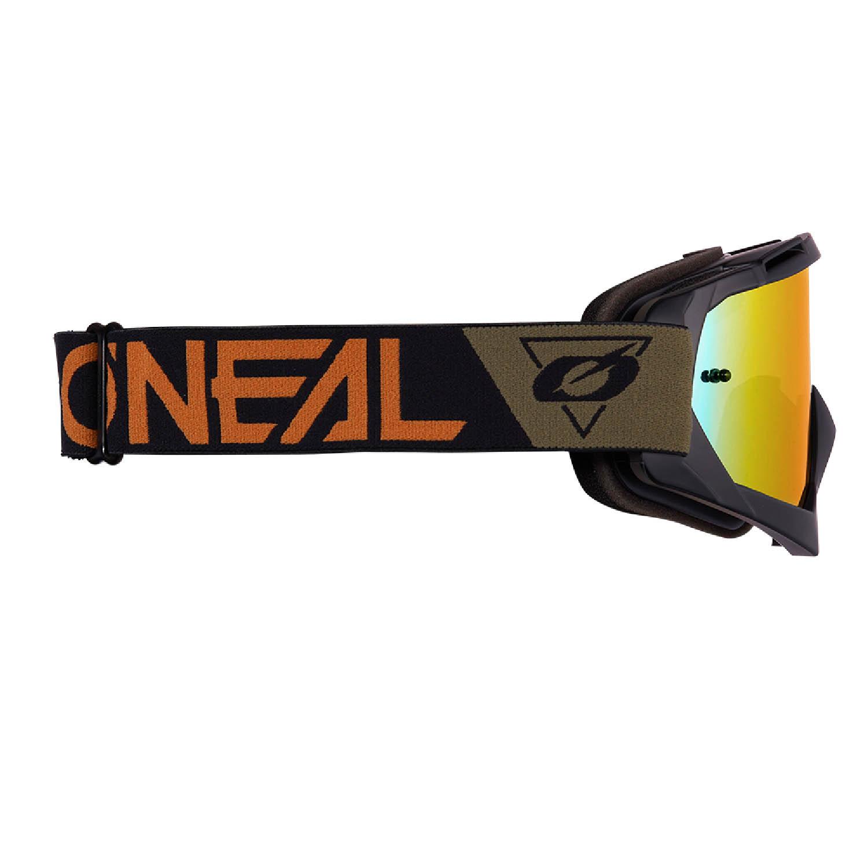 Мотоциклетные очки O'NEAL B-10 GOGGLE SPEEDMETAL для кросса, линзы радиевые вид сбоку купить по низкой цене