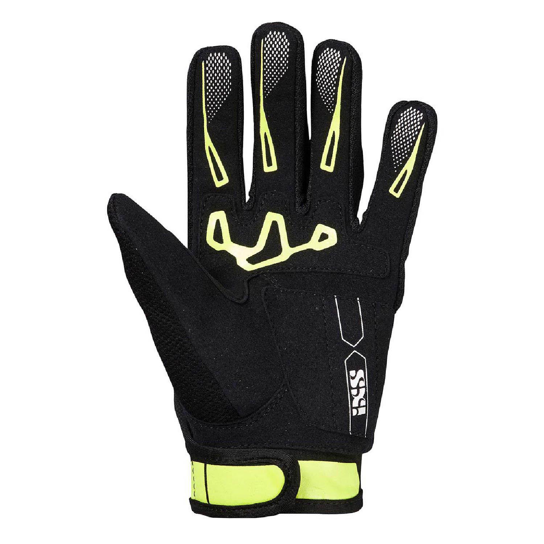 IXS TOUR PANDORA AIR мотоциклетные перчатки из текстиля цвет черно-желтый вид ладони купить по низкой цене