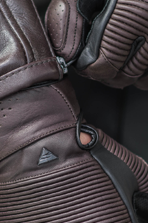 SHIMA BLAKE мотоциклетные перчатки из кожи, вид застёжка купить по низкой цене