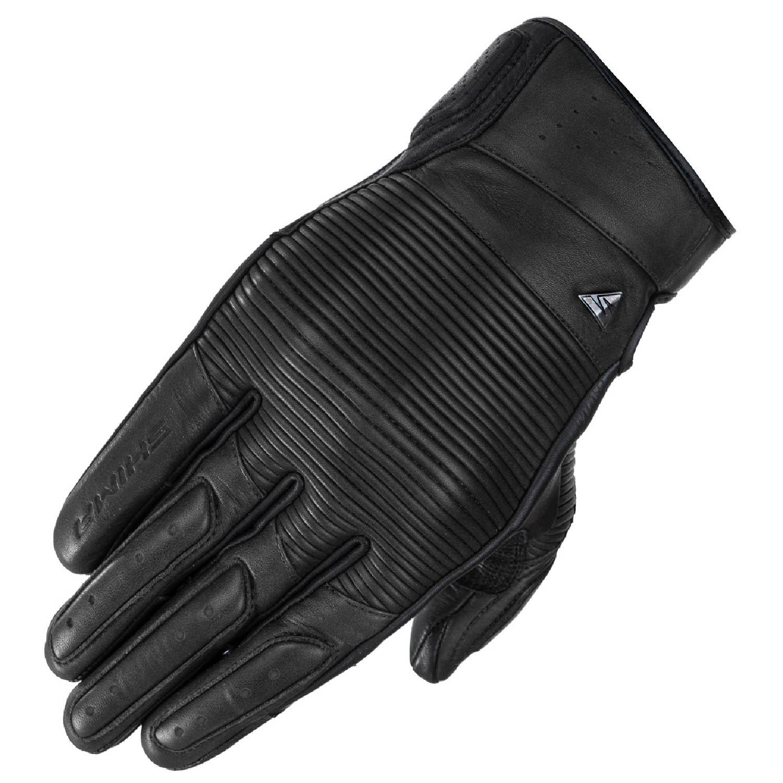 SHIMA BLAKE мотоциклетные перчатки чёрного цвета из кожи купить по низкой цене