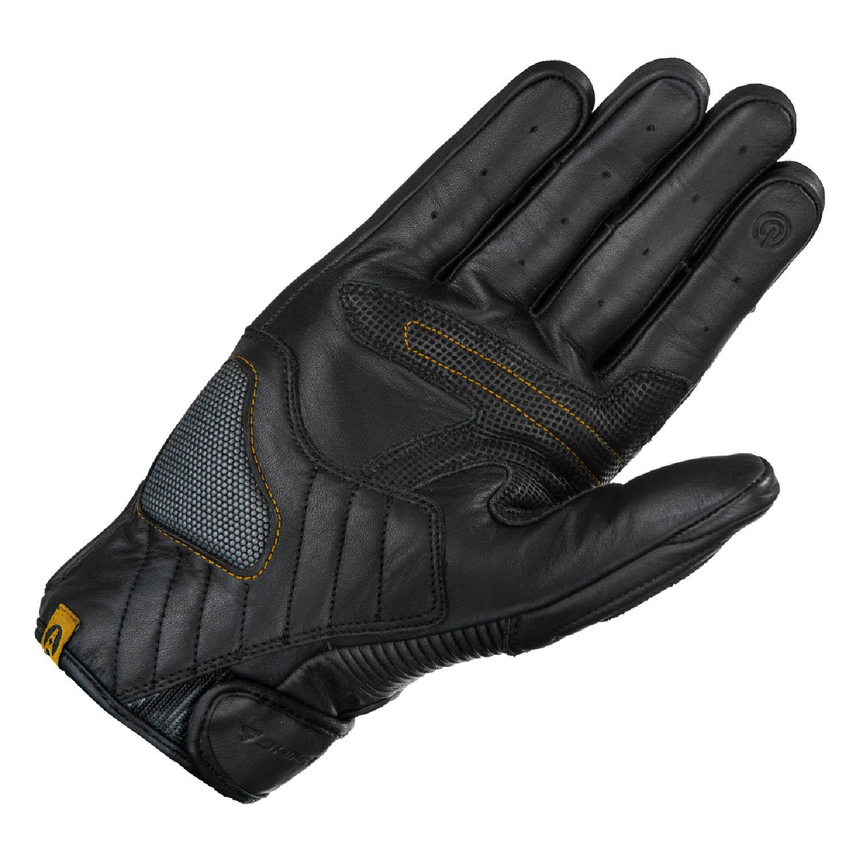 SHIMA BLAKE мотоциклетные перчатки чёрного цвета из кожи, вид ладони купить по низкой цене