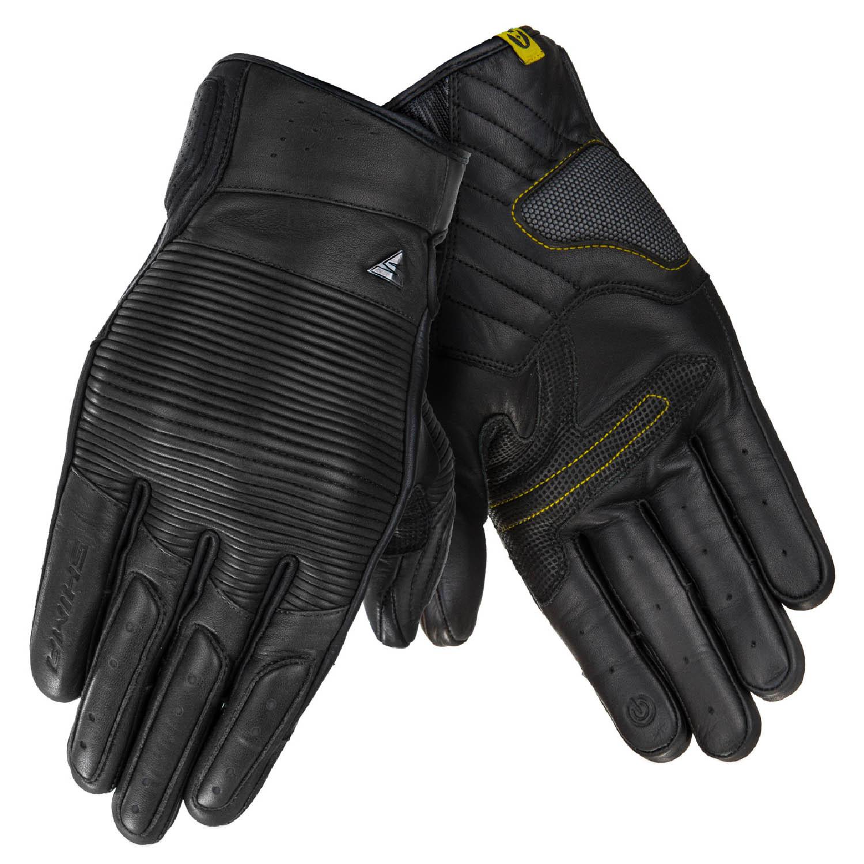 SHIMA BLAKE мотоциклетные перчатки чёрного цвета из кожи, вид пара купить по низкой цене