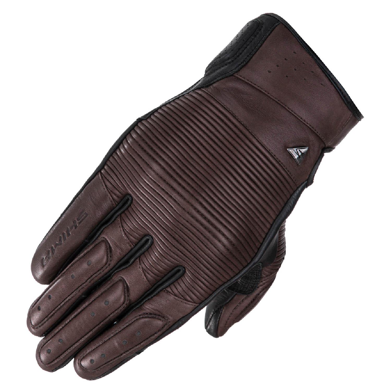SHIMA BLAKE мотоциклетные перчатки коричневого цвета из кожи купить по низкой цене