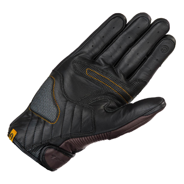 SHIMA BLAKE мотоциклетные перчатки коричневого цвета из кожи, вид ладони купить по низкой цене