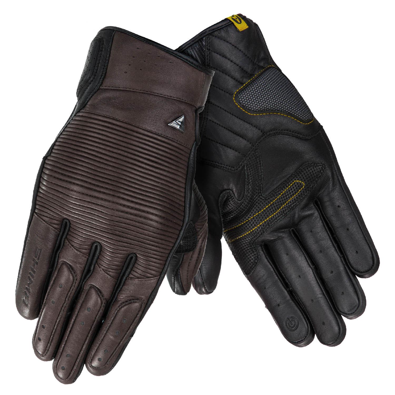 SHIMA BLAKE мотоциклетные перчатки коричневого цвета из кожи, вид пара купить по низкой цене