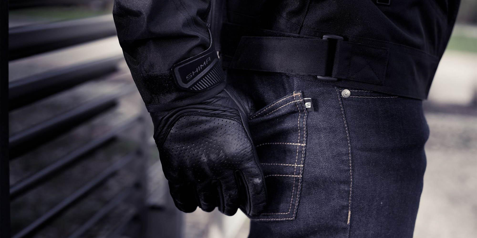 SHIMA BULLET мотоциклетные перчатки из кожи, вид карман купить по низкой цене
