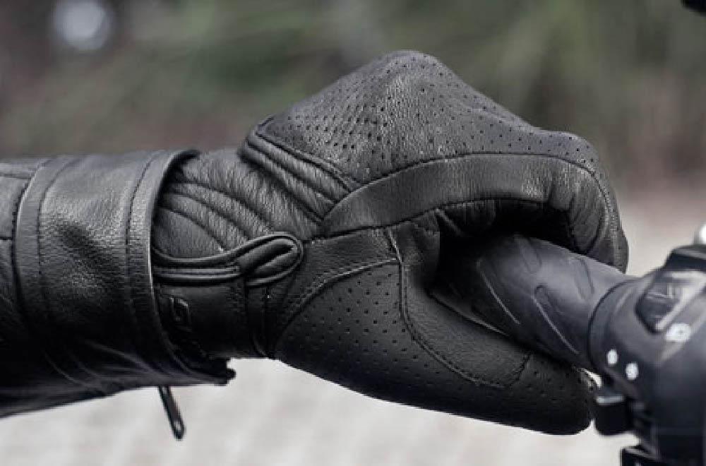 SHIMA BULLET мотоциклетные перчатки из кожи, вид слева купить по низкой цене