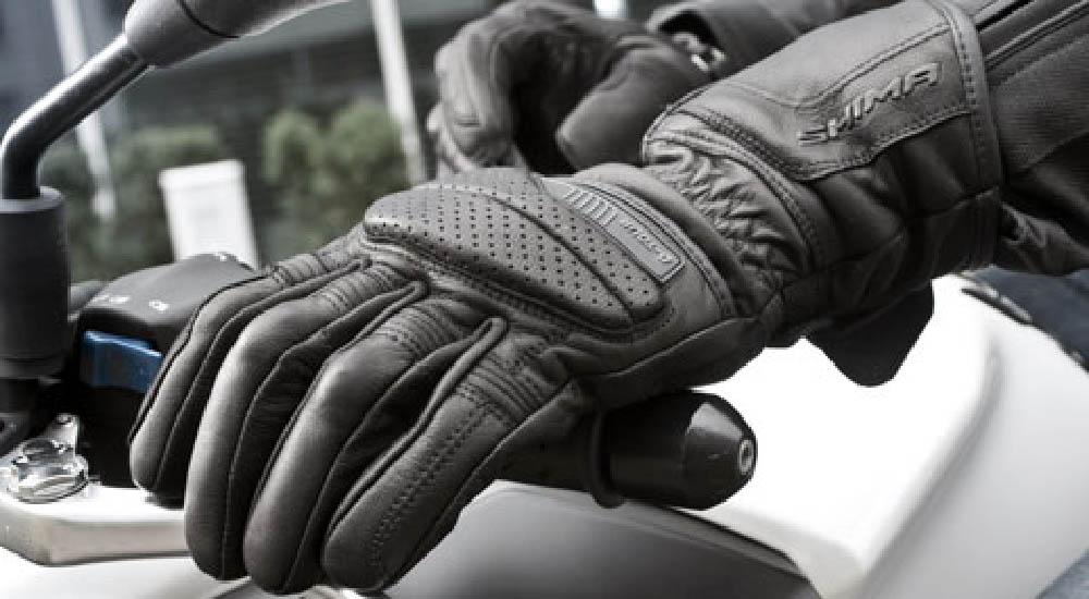 SHIMA D-TOUR мотоциклетные перчатки из кожи для туристов, вид справа на рукоятке купить по низкой цене