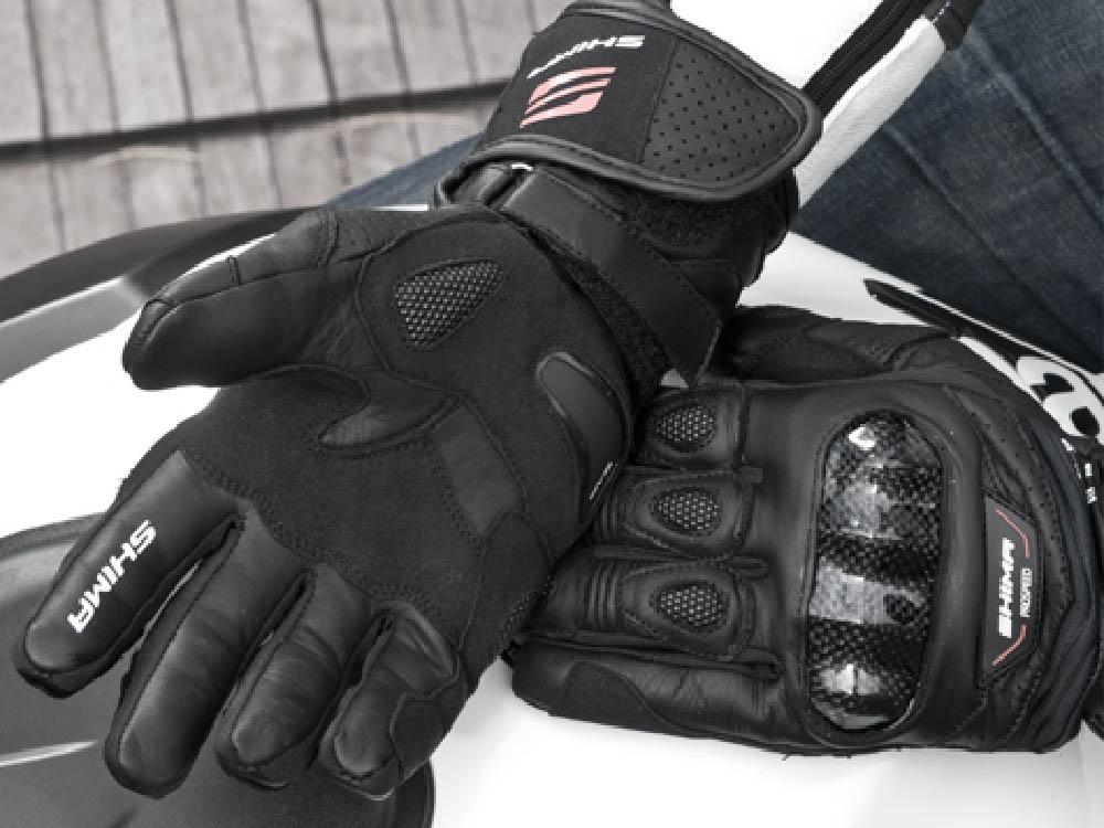 SHIMA PROSPEED мотоциклетные перчатки из кожи для туристов, вид застёжка купить по низкой цене