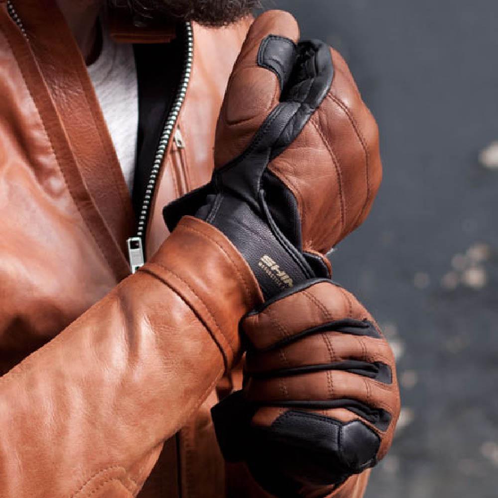 SHIMA REVOLVER мотоциклетные перчатки из кожи, вид застёжка купить по низкой цене