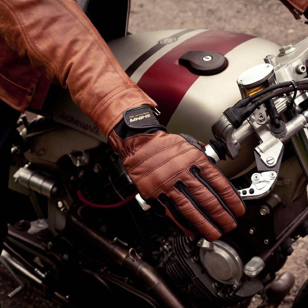 SHIMA REVOLVER мотоциклетные перчатки из кожи, вид на ручке газа купить по низкой цене