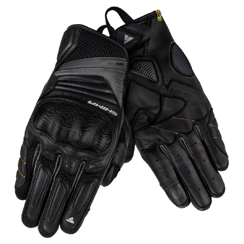 SHIMA RUSH мотоциклетные перчатки из кожи, вид пара купить по низкой цене