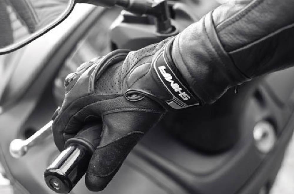 SHIMA SPARK мотоциклетные перчатки из кожи, вид на ручке сцепления купить по низкой цене