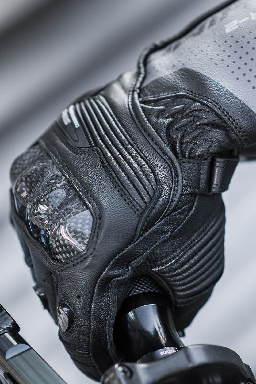 SHIMA STR-2 мотоциклетные перчатки из кожи, вид справа купить по низкой цене