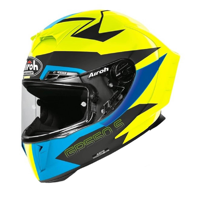 Шлем интегральный AIROH GP550 S VEKTOR синего цвета купить по низкой цене
