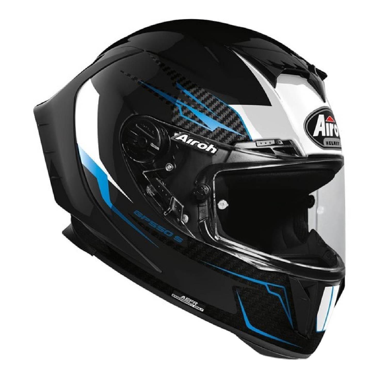 Шлем интегральный AIROH GP550 S VENOM черного цвета, вид справа купить по низкой цене