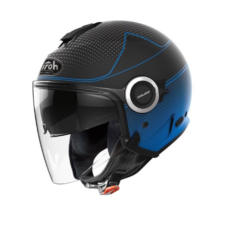 Шлем открытый AIROH HELIOS MAP синего матового цвета купить по низкой цене