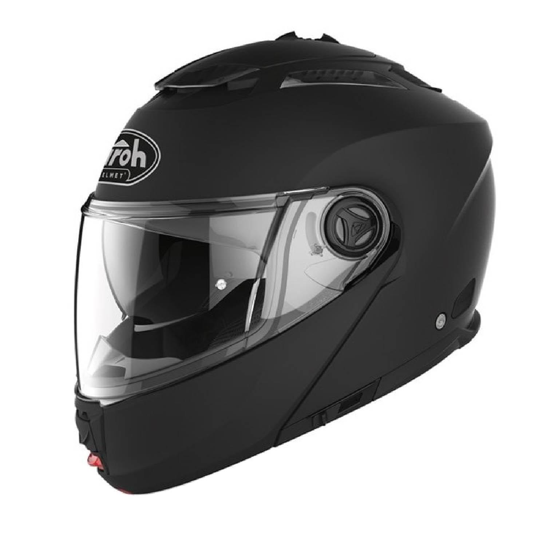 Шлем модулярный AIROH PHANTOM-S черного цвета, в закрытом виде купить по низкой цене
