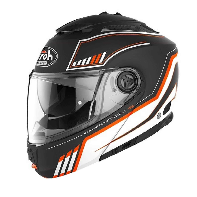 Шлем модулярный AIROH PHANTOM-S BEAT оранжевого матового цвета, в закрытом виде купить по низкой цене