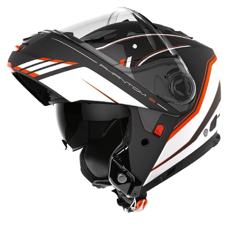 Шлем модулярный AIROH PHANTOM-S BEAT оранжевого матового цвета купить по низкой цене