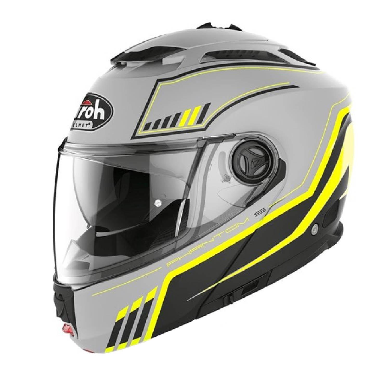 Шлем модулярный AIROH PHANTOM-S BEAT желтого матового цвета, в закрытом виде купить по низкой цене