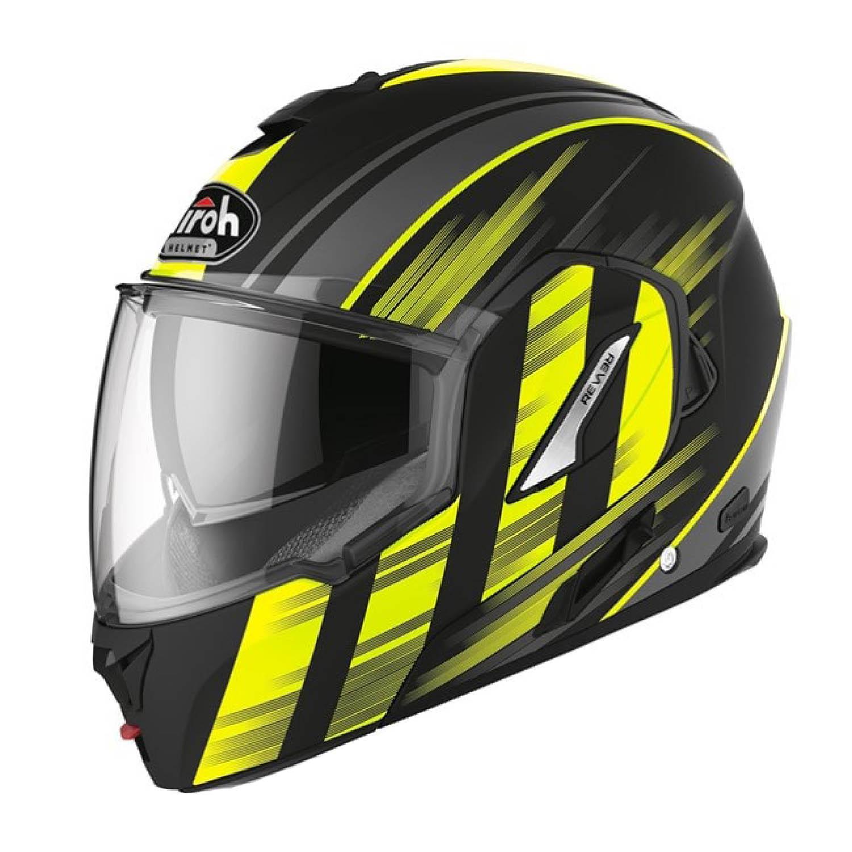 Шлем модулярный AIROH REV 19 IKON желтого матового цвета, в закрытом виде купить по низкой цене
