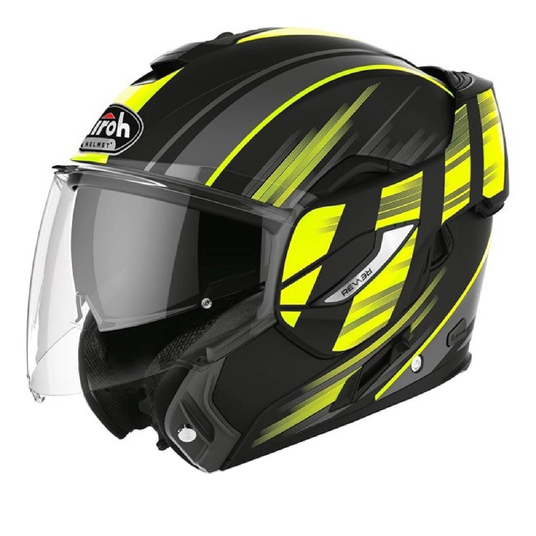Шлем модулярный AIROH REV 19 IKON желтого матового цвета купить по низкой цене