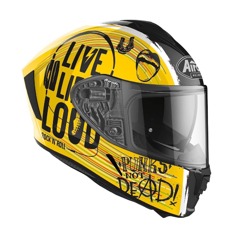 Шлем интегральный AIROH SPARK ROCK'N'ROLL вид справа купить по низкой цене