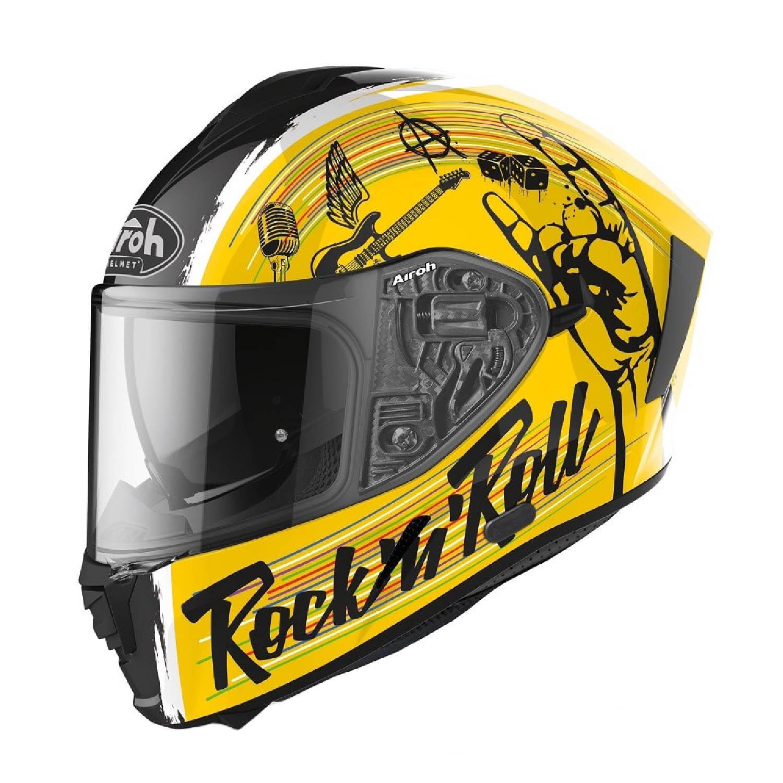 Шлем интегральный AIROH SPARK ROCK'N'ROLL купить по низкой цене