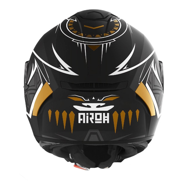 Шлем интегральный AIROH SPARK VIBE черного матового цвета, вид сзади купить по низкой цене