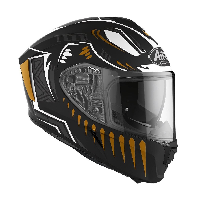Шлем интегральный AIROH SPARK VIBE черного матового цвета, вид справа купить по низкой цене