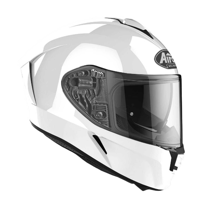 Шлем интегральный AIROH SPARK белого глянцевого цвета, вид справа купить по низкой цене