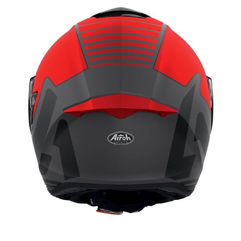Casca integrală AIROH ST.501 TYPE красного матового цвета, вид сзади купить по низкой цене