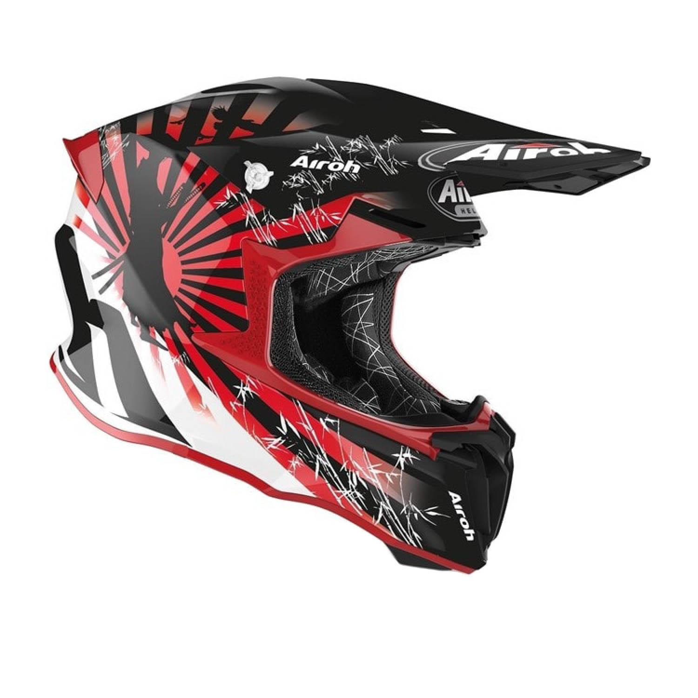 Шлем кроссовый AIROH TWIST 2.0 KATANA вид справа купить по низкой цене