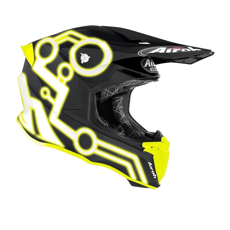 Шлем кроссовый AIROH TWIST 2.0 NEON вид справа купить по низкой цене