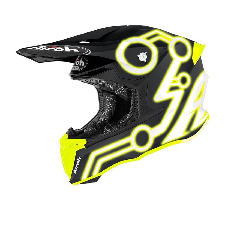Шлем кроссовый AIROH TWIST 2.0 NEON купить по низкой цене