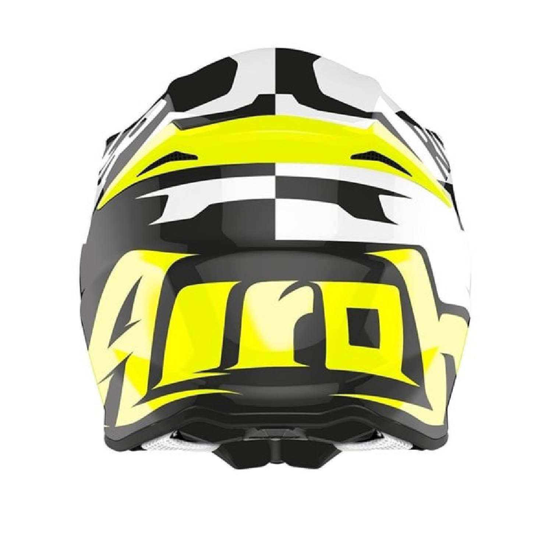 Шлем кроссовый AIROH TWIST 2.0 RACR вид сзади купить по низкой цене