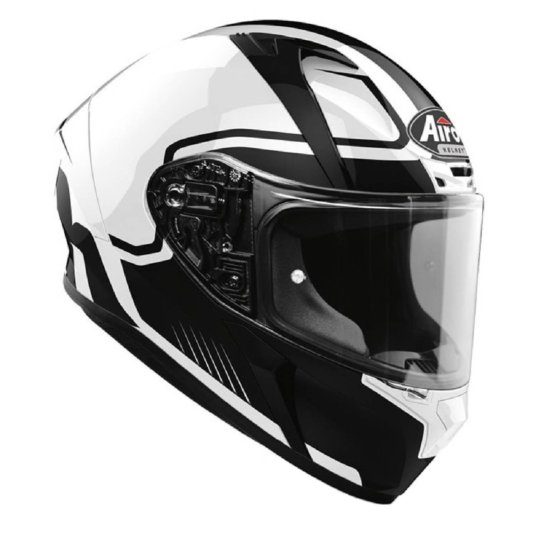Шлем интегральный AIROH VALOR MARSHALL белого глянцевого цвета, вид справа купить по низкой цене