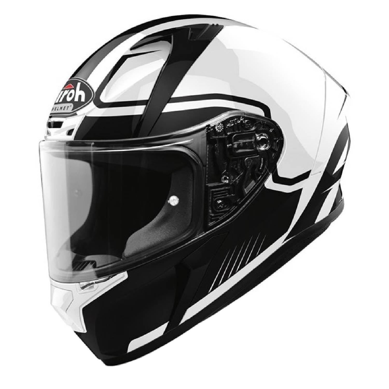 Шлем интегральный AIROH VALOR MARSHALL белого глянцевого цвета купить по низкой цене