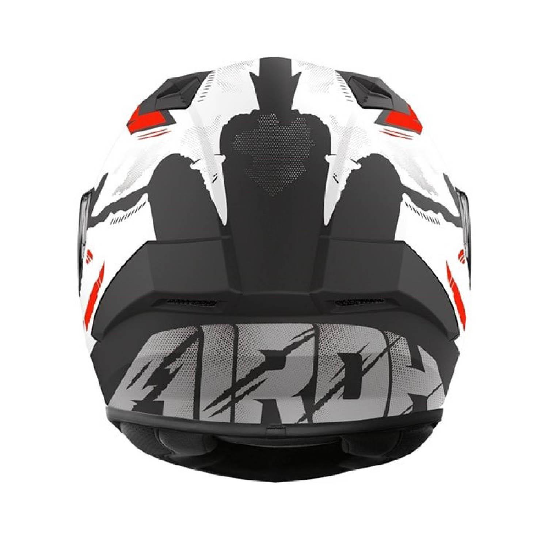 Шлем интегральный AIROH VALOR NEXY матового цвета, вид сзади купить по низкой цене