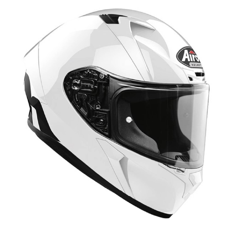 Шлем интегральный AIROH VALOR белого глянцевого цвета, вид справа купить по низкой цене
