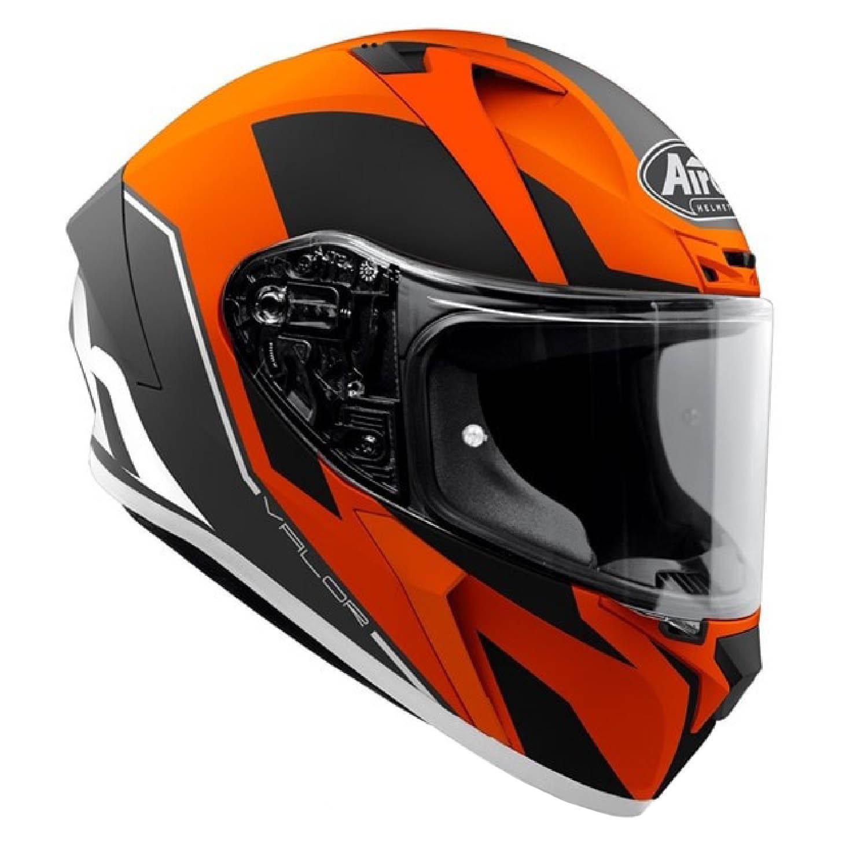 Шлем интегральный AIROH VALOR WINGS оранжевого матового цвета, вид справа купить по низкой цене