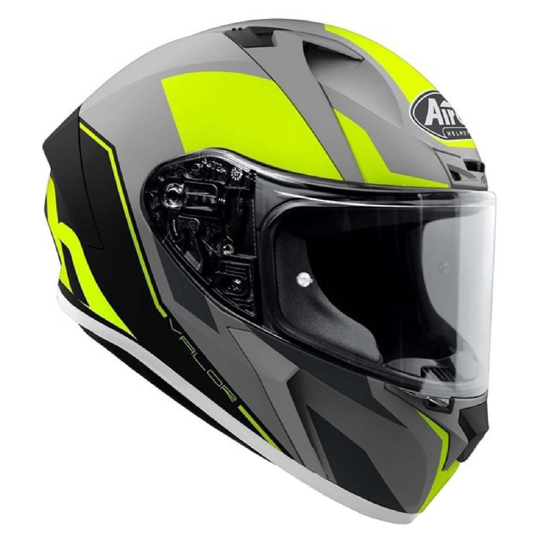 Шлем интегральный AIROH VALOR WINGS желтого матового цвета, вид справа купить по низкой цене