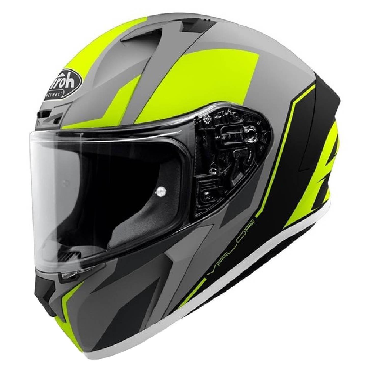 Шлем интегральный AIROH VALOR WINGS желтого матового цвета купить по низкой цене