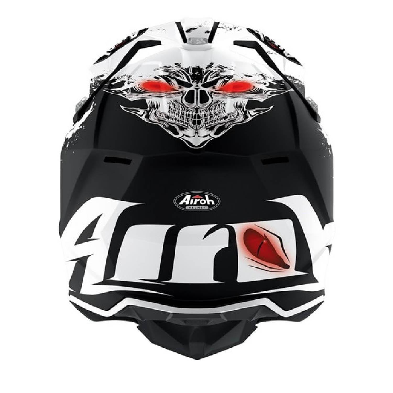 Шлем кроссовый AIROH WRAAP BEAST вид сзади купить по низкой цене