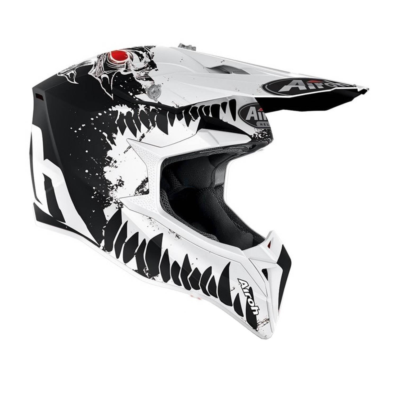 Шлем кроссовый AIROH WRAAP BEAST вид справа купить по низкой цене
