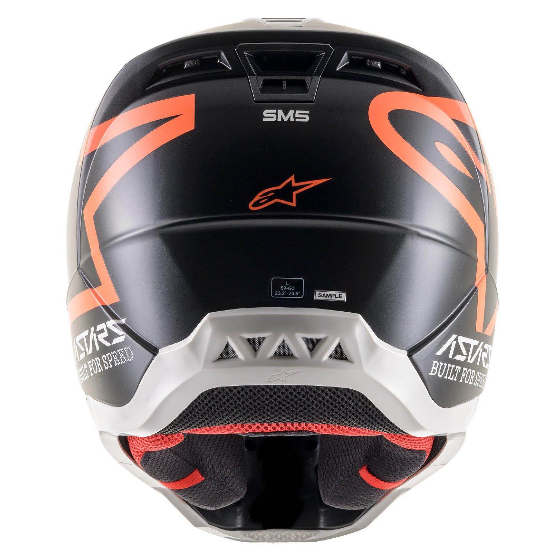 Шлем кроссовый ALPINESTARS SM5 COMPASS вид сзади купить по низкой цене