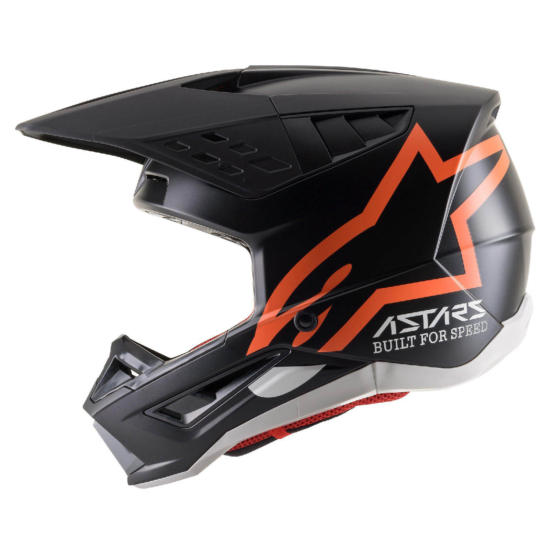 Шлем кроссовый ALPINESTARS SM5 COMPASS вид слева купить по низкой цене