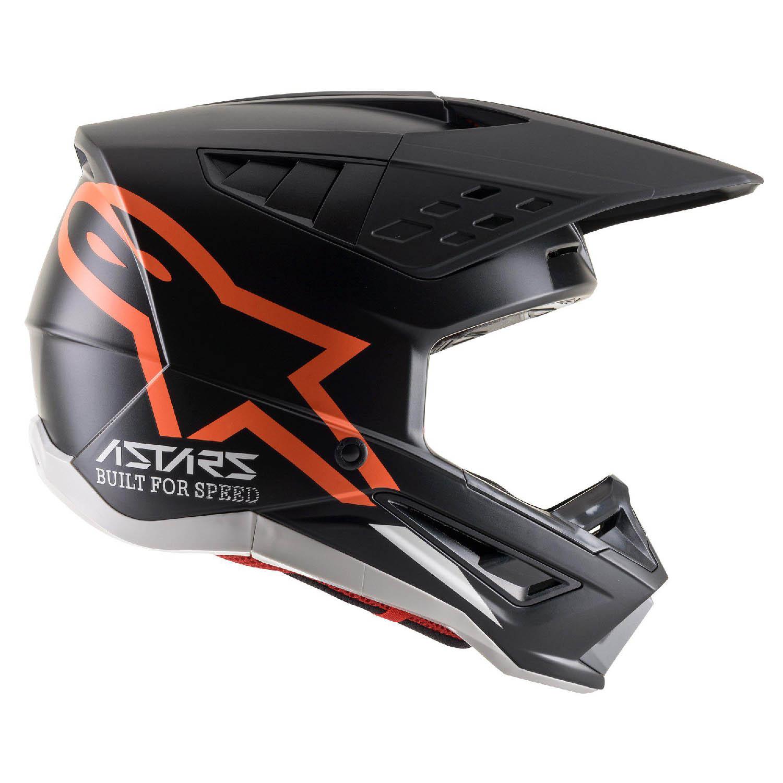 Шлем кроссовый ALPINESTARS SM5 COMPASS вид справа купить по низкой цене